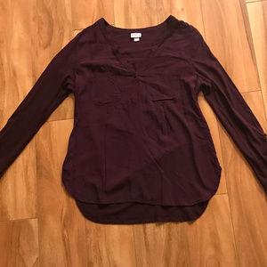 Merona Purple Long Sleeve Shirt Size M
